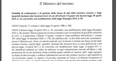 Decreto Ministeriale per strutture ricettive e affitti brevi